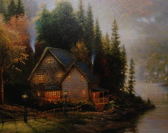 Simpler Times by Thomas Kinkade ~ Framed Limited Edition Canvas ~ Oil Highlighted Lithograph