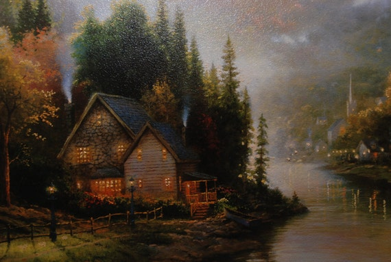 Simpler Times By Thomas Kinkade Framed Limited Edition Canvas Oil Highlighted Lithograph