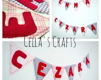 Cotton name bunting