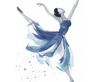 Watercolour dancer