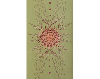 Green Design Yoga mat ~ Grüne Yogamatte • Weiche Oberfläche aus Mikrofaser