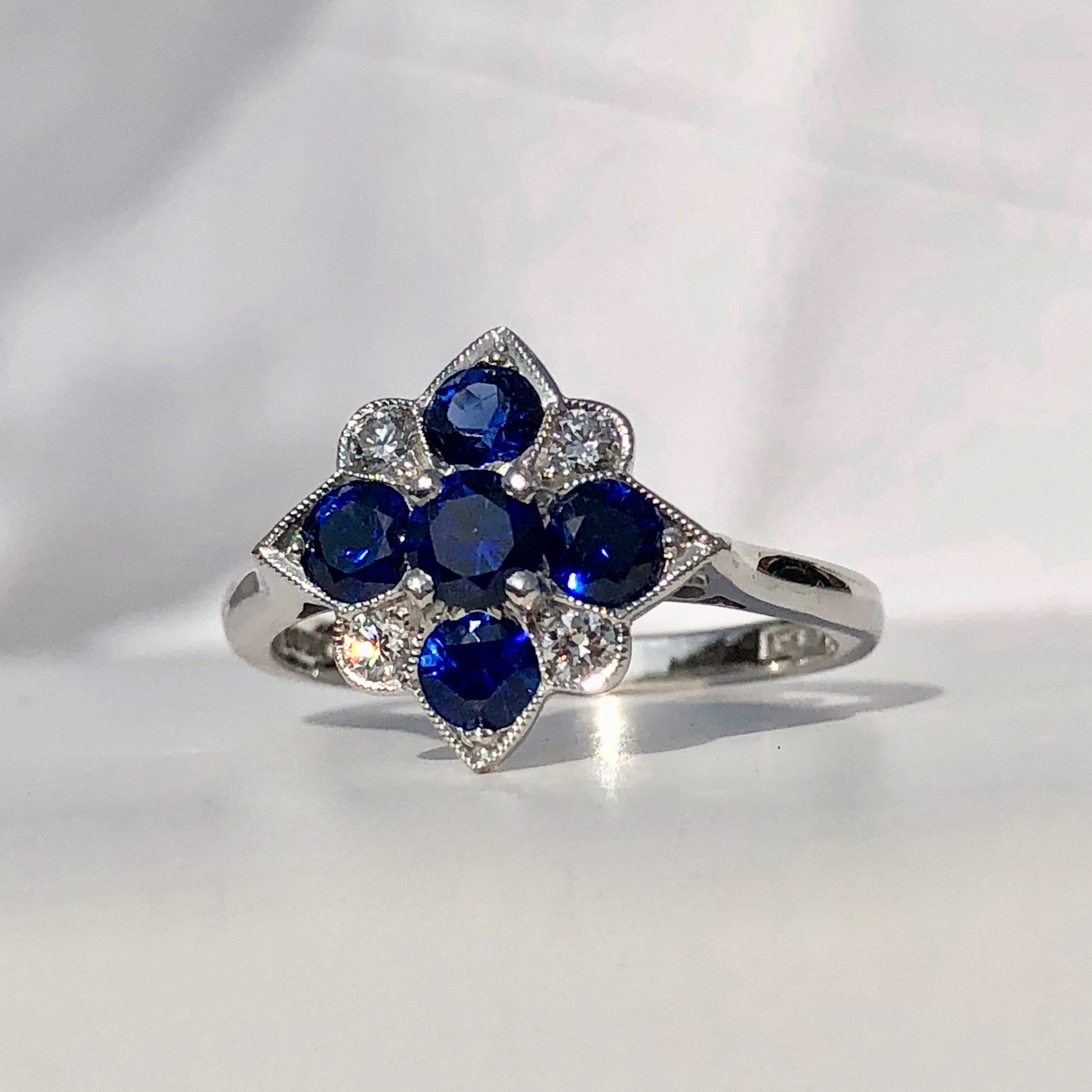 d5cf2e213 Vintage Style Sapphire and Diamond Ring.