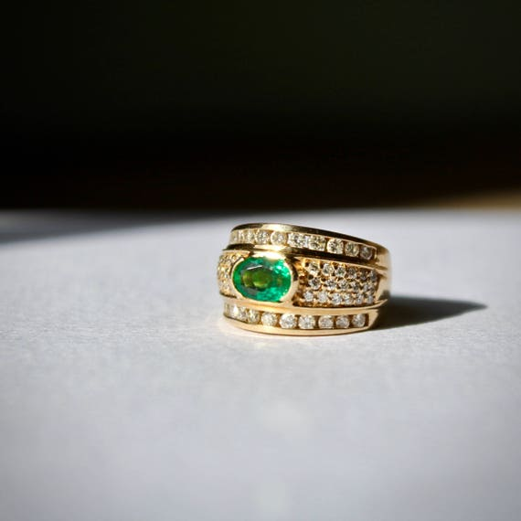 Birthstone Emerald Band, Birthstone Emerald Ring,… - image 4