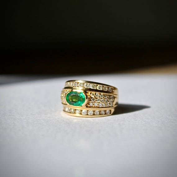Birthstone Emerald Band, Birthstone Emerald Ring,… - image 5