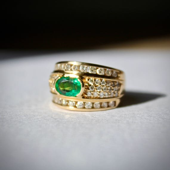 Birthstone Emerald Band, Birthstone Emerald Ring,… - image 2