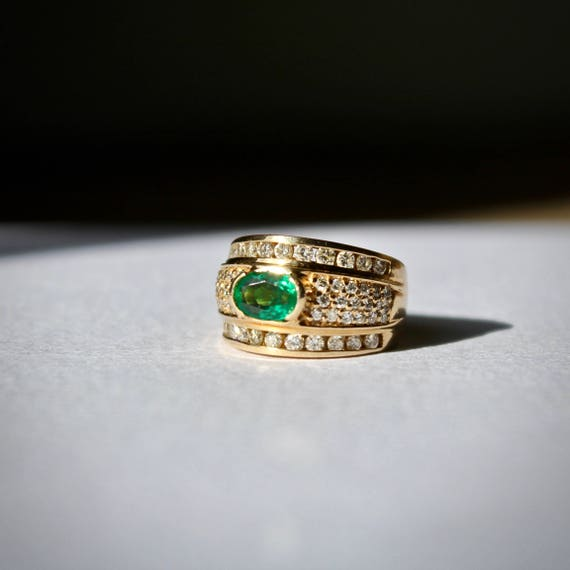 Birthstone Emerald Band, Birthstone Emerald Ring,… - image 3