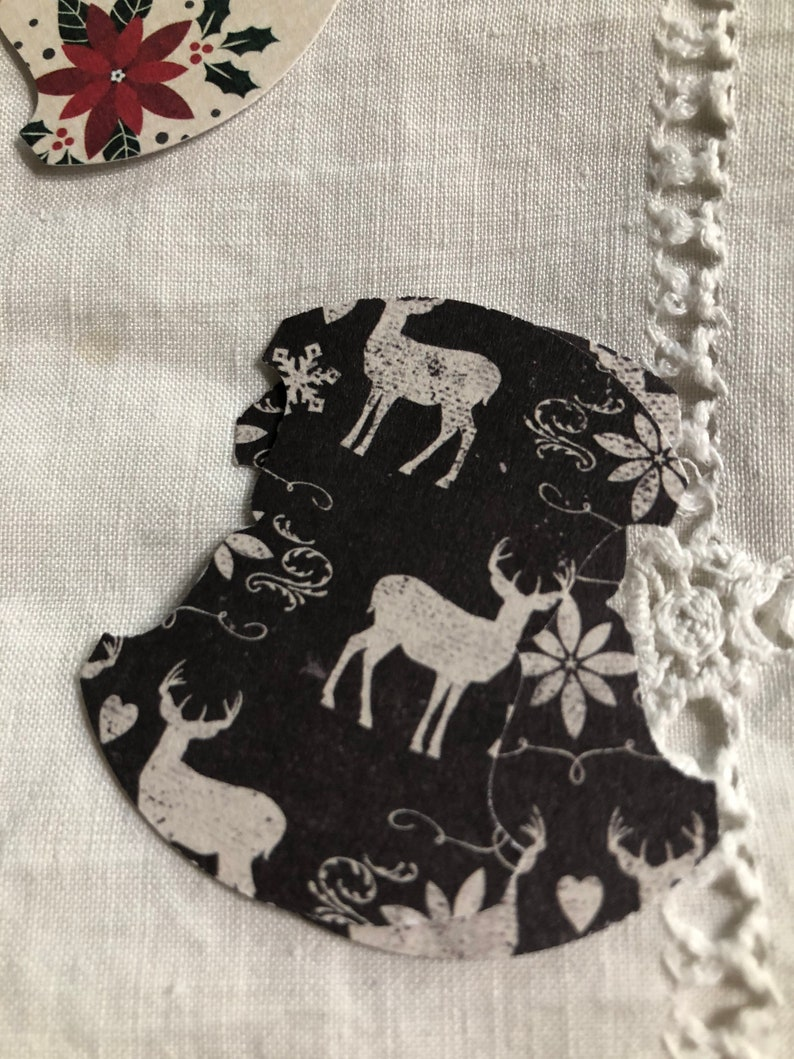 25 Whale Tail Christmas Punched Tabs