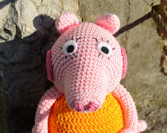 Peppa Pig, handmade amigurumi peppa pig, crochet peppa pig, soft toy
