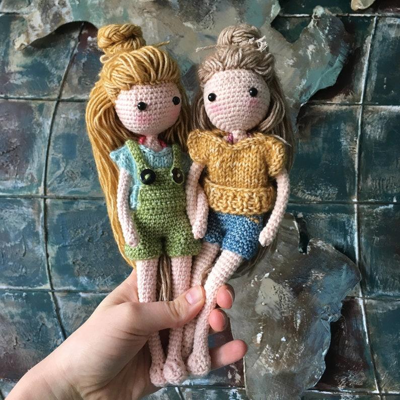 Crochet Pattern: Dressup Doll Elsa Amigurumi  Instant PDF image 0