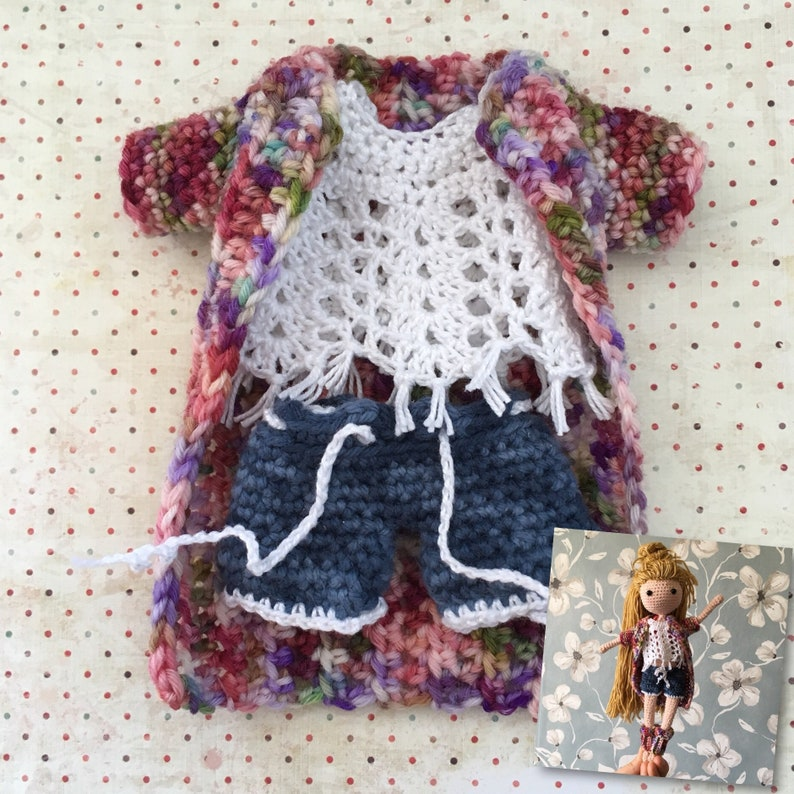 Crochet Doll Clothes Pattern Amigurumi Clothes Pattern Eng Etsy
