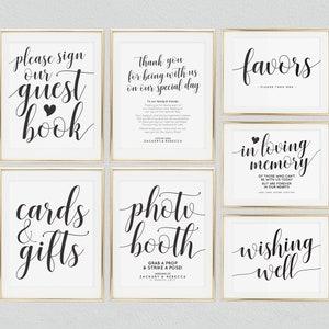 Wedding Signs Printable Package Bundle Set Template Editable