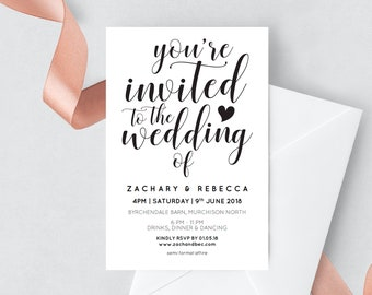 Editable wedding invitation template download, Editable invitation, Boho wedding invite, printable wedding invites, Rustic wedding invites,