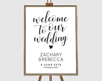 Printable wedding signs printable, Editable pdf, Instant download, Welcome sign wedding, Rustic wedding signs, Printable wedding signage