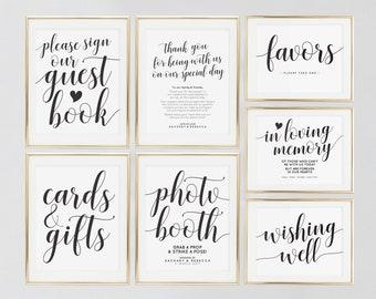 Printable wedding signs | Etsy