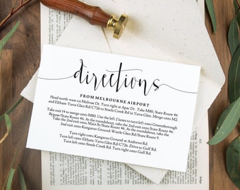 Wedding direction cards, Wedding enclosure cards, Printable wedding stationery, Wedding directions, Wedding details card, Rustic wedding