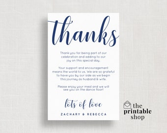 wedding thank you card template elegant thank you cards etsy