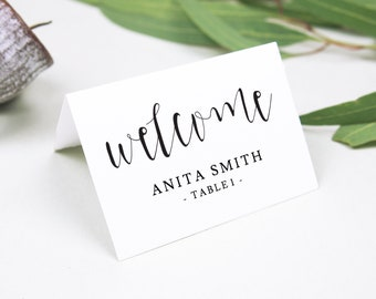 we do place card template gold wedding place cards rustic etsy