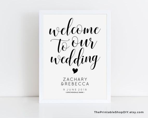 Printable Wedding Signs Editable Pdf Instant