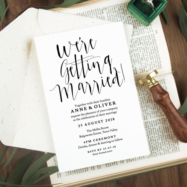 Rustic Wedding Invitation Template Download Editable Printable