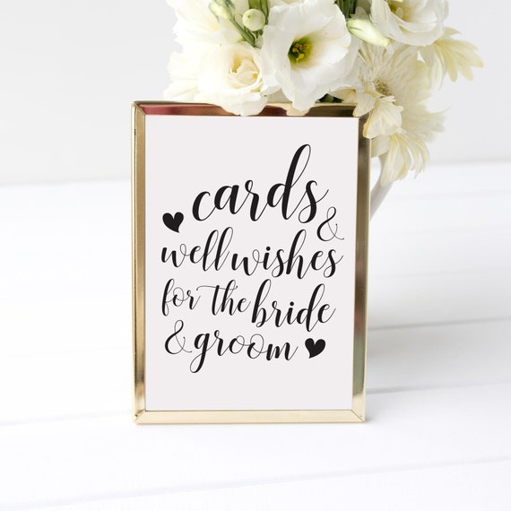 Cards And Well Wishes Sign Cards & Gifts Sign Boho Wedding