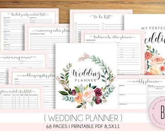 photo about Printable Wedding Planner named Marriage ceremony planner printable Etsy