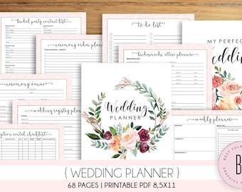 photo relating to Printable Wedding Planner named Wedding day planner printable Etsy