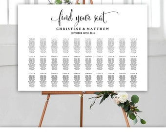 table seating chart etsy
