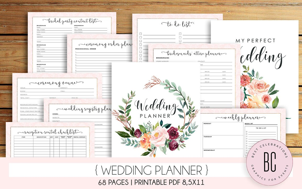 Wedding Planner Printable Wedding Planning Book Printable ...