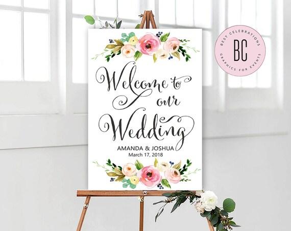 Wedding Welcome Sign Bridal Shower sign Bridal Shower  a7b62ed3de5