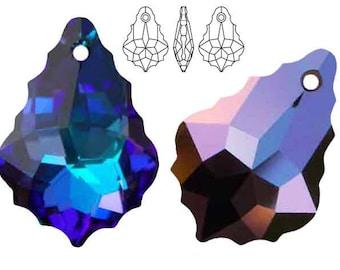 Swarovski Crystal 6090 Baroque 16mm, 22mm - Heliotrope