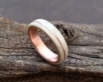 Maple Copper Bentwood Wood Ring Silk Matt