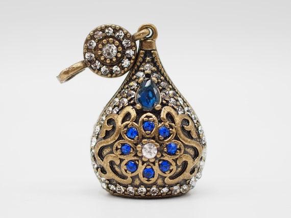 Ortane Ottoman Jewelry Bead Cone Large Green Bead Cap Gemstone Beaded Tassel Cap Turkish Rhinestone Finding Antique Bronze Tassel Cap