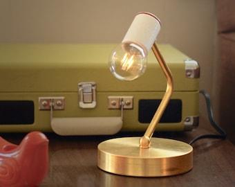 "FREE SHIPPING - Mid Century Modern Lamp / Brass Lamp / Modern Lamp / Brass Desk Lamp / Mid Century / Mid Century Modern / ""The L Lamp"""