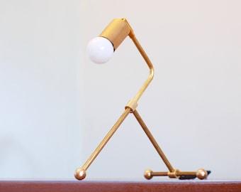 "FREE SHIPPING - Mid Century Modern Lamp / Brass Lamp / Modern Lamp / Brass Desk Lamp / Mid Century / Mid Century Modern / ""The LK Lamp"""