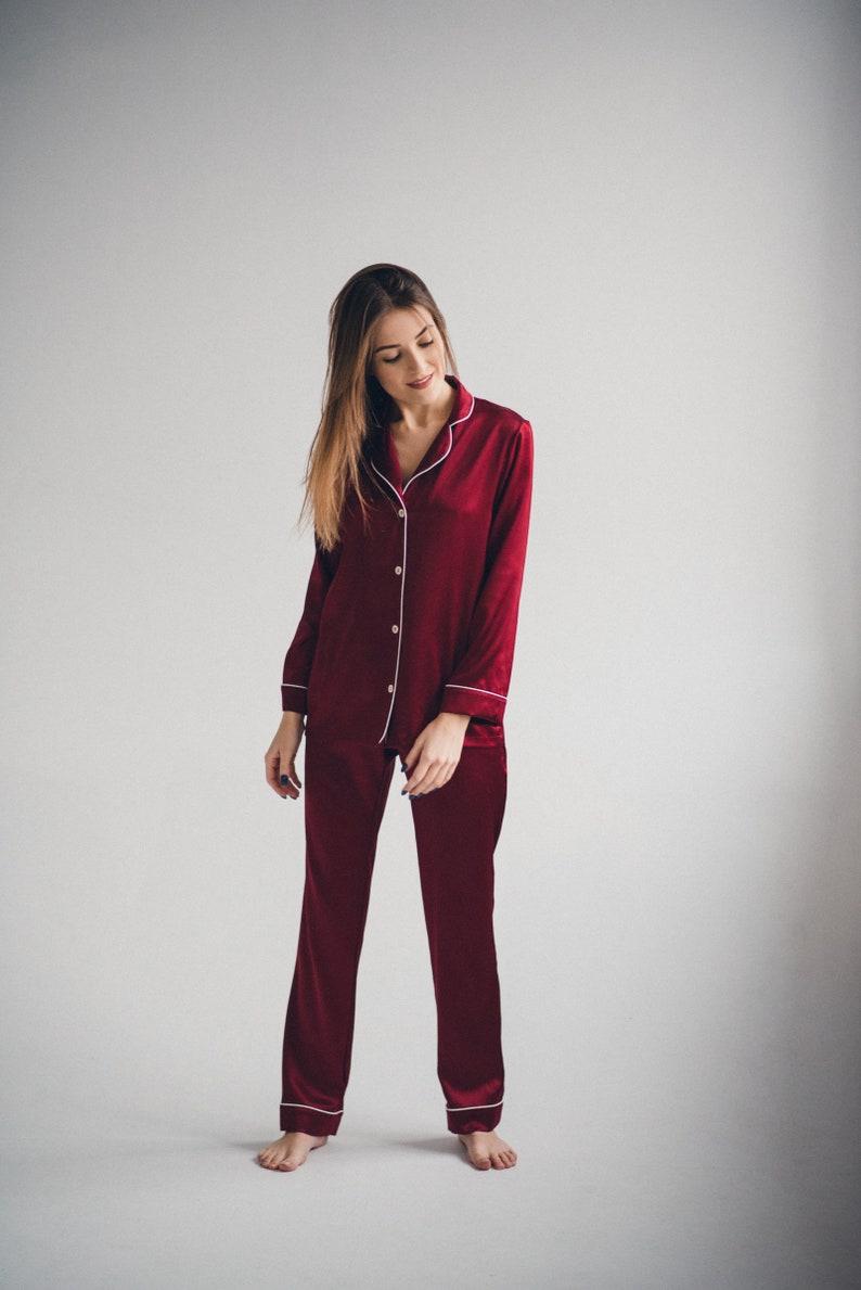 Silk pyjama set Silk pajama set Long silk pajamas set Luxury  c55f9bb41