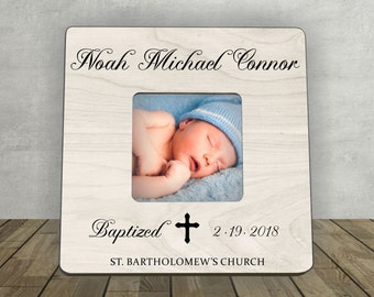 Baptism Gift Boy, Baby Gift, Personalized Picture Frame, Baptism Gift, Personalized Baptism Frame, Baptism Christening Photo Frame