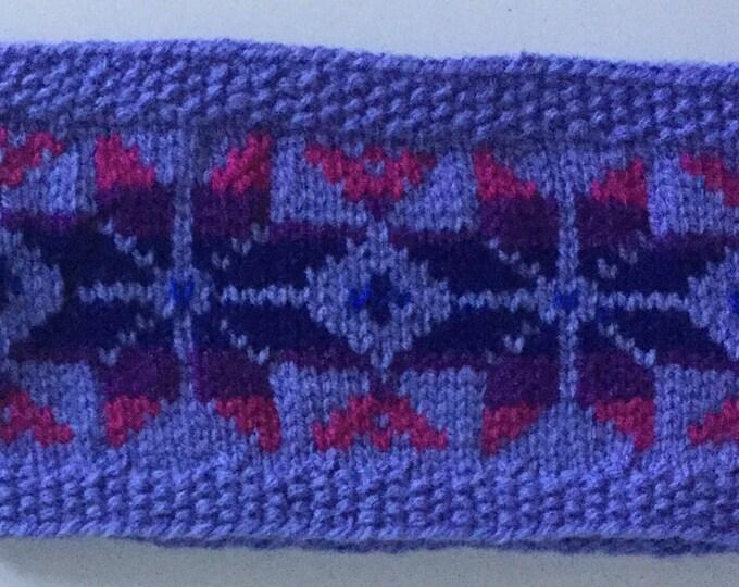 Lilac child's Fair Isle headband