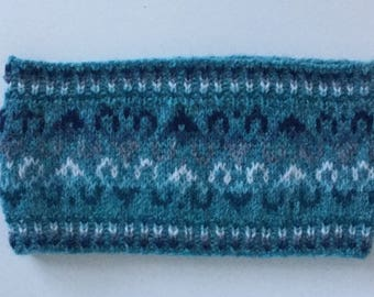 Blue Fair Isle Headband