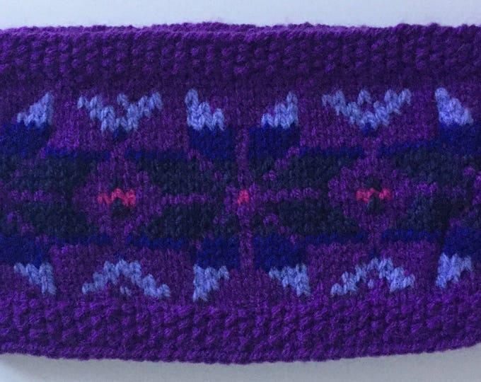 Purple child's Fair Isle headband
