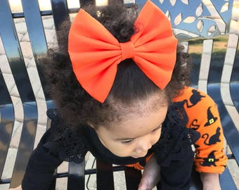 Orange Pop Bow