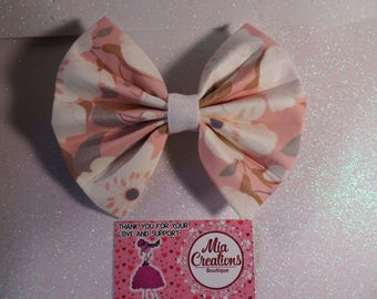 my sweet spring floral bow.