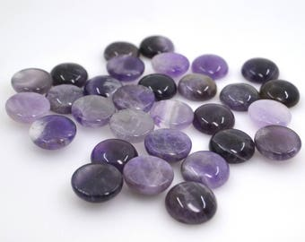 30.50 CT GORGEOUS NATURAL AMETHYST OVAL CABOCHON 1 PAIR 30X10X5 GEMSTONE AFRICA
