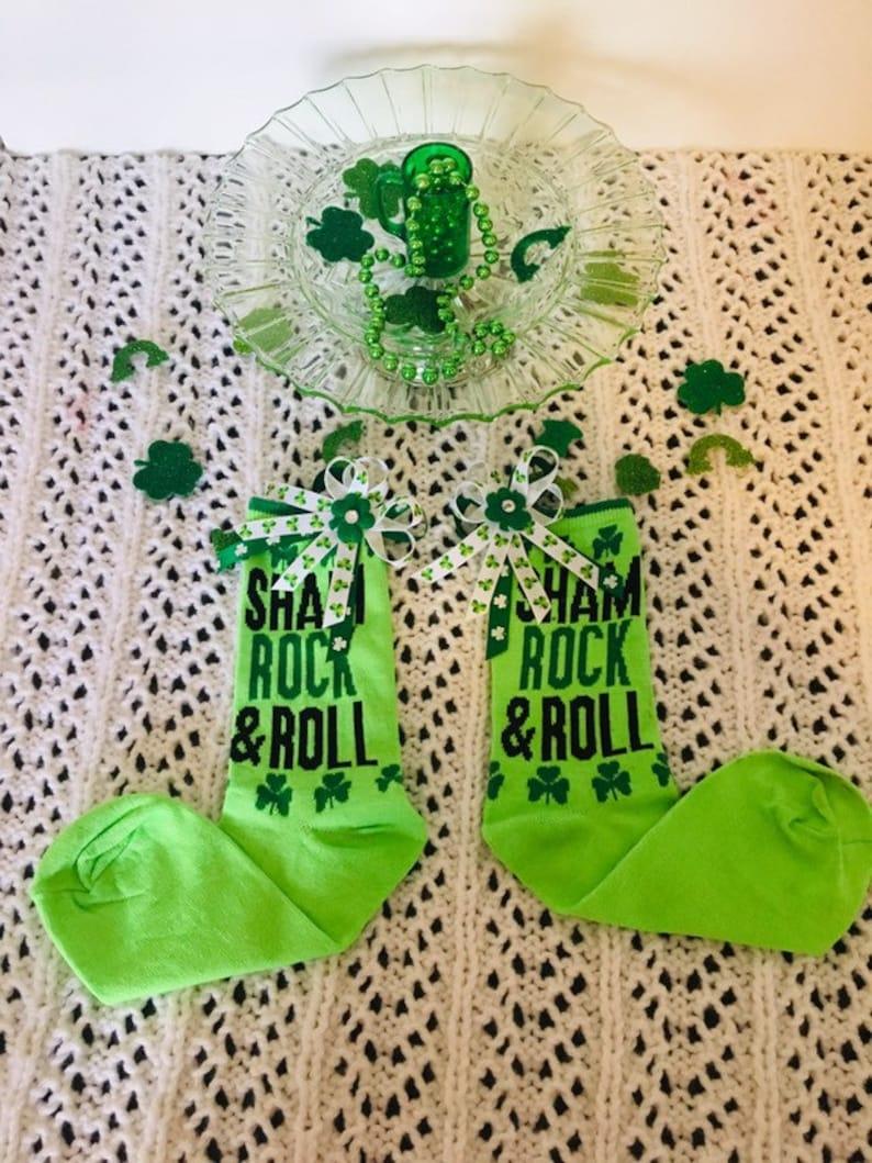 ce396c972 Girls Ladies Knee Hi St Patricks Day Socks Thigh High Socks