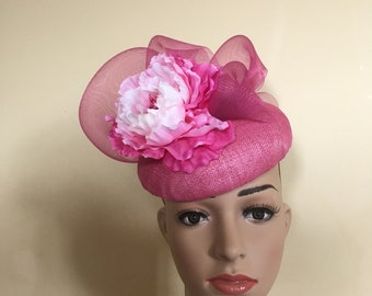33d8517a7cb Pink wedding hat Pink Ascot hat Pink fascinator Pink Ascot fascinator Pink  Pillbox Hat Pink Derby hat Pink Ascot hats Pink wedding hats