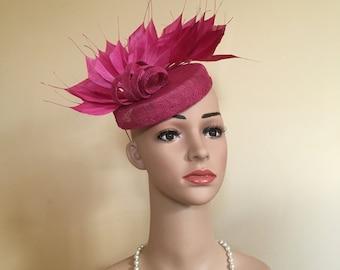 ad30821c221 Pink Wedding Hat Pink Wedding Hats Pink Fascinator Pink Fascinators Pink  Pillbox Pink Pillbox Hat Pink Hat Pink Hats Pink Ascot Hats