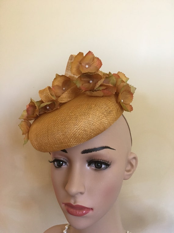 Mustard wedding hat.Mustard wedding hats.Mustard Royal Ascot  6628fd5e0e3