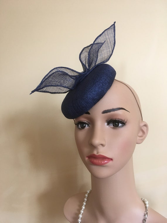 e1173e3f63de1 Navy Wedding Hat Navy Wedding Hats Navy Fascinator Navy