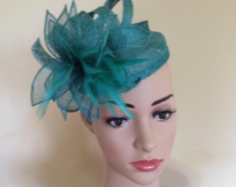 Jade Green Pillbox Hat.Wedding Hat. Ascot Race Hat. Occasion Hat.Green Hat.Green Wedding Hat.Green Hat.Made for you by Harlequin Fascinators