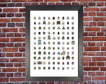 Game Of Thrones Pixel Characters 140 Characters Classic Etsy