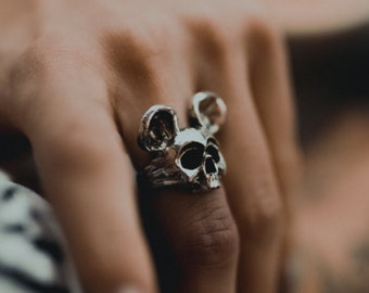 Dead Mickey - Handcrafted Sterling Silver Ring